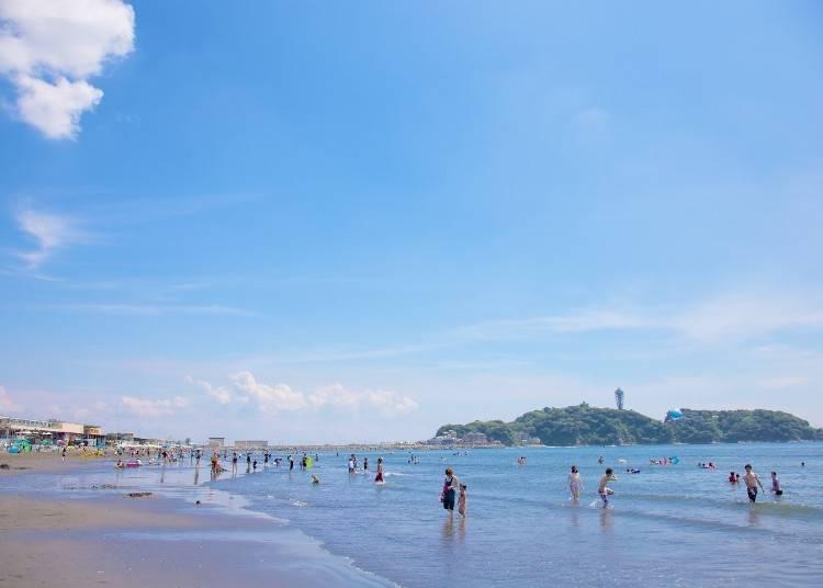 ブルーフラッグ取得の安全なビーチ・片瀬西浜・鵠沼海水浴場