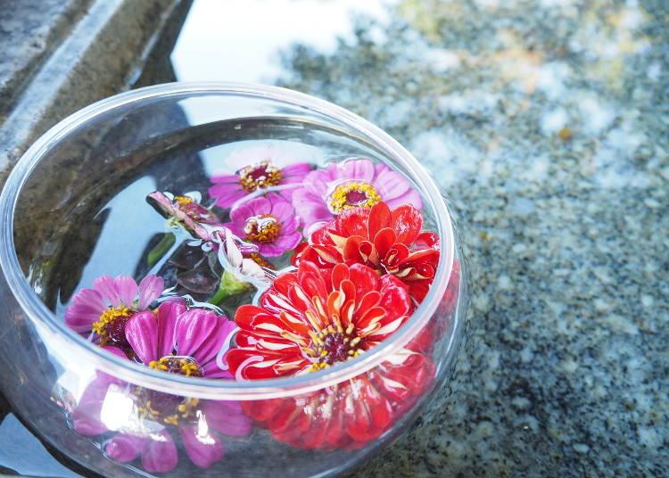 ■自分で簡単手作りできる!「ミニ花手水」の作り方