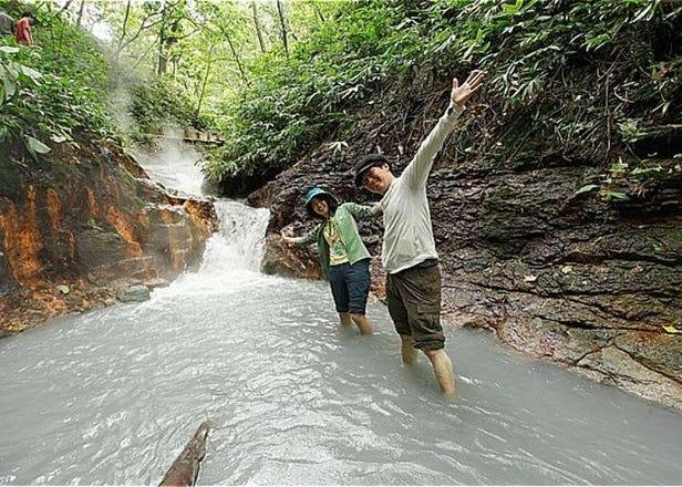 探索人气温泉「登别温泉」泉源,享受天然的足部温泉!