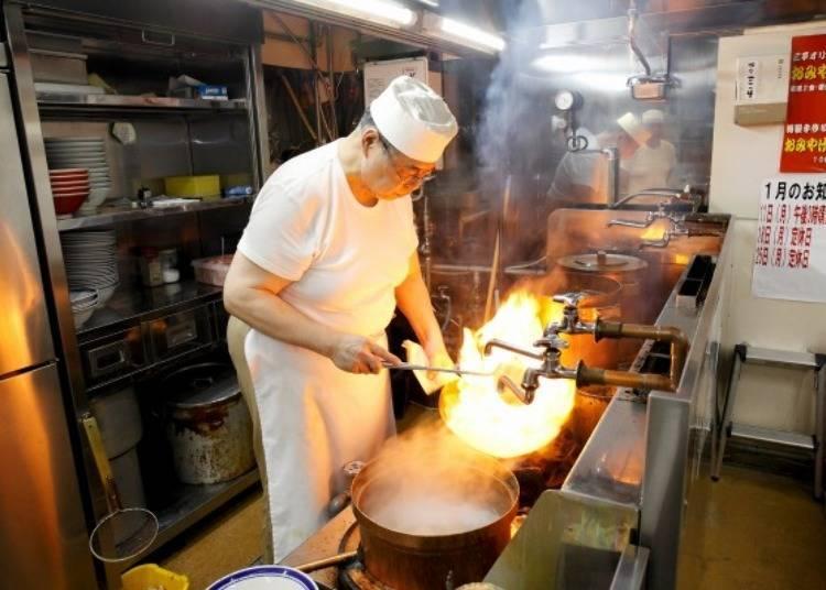 We decided to taste the miso ramen at Aji no Sanpei