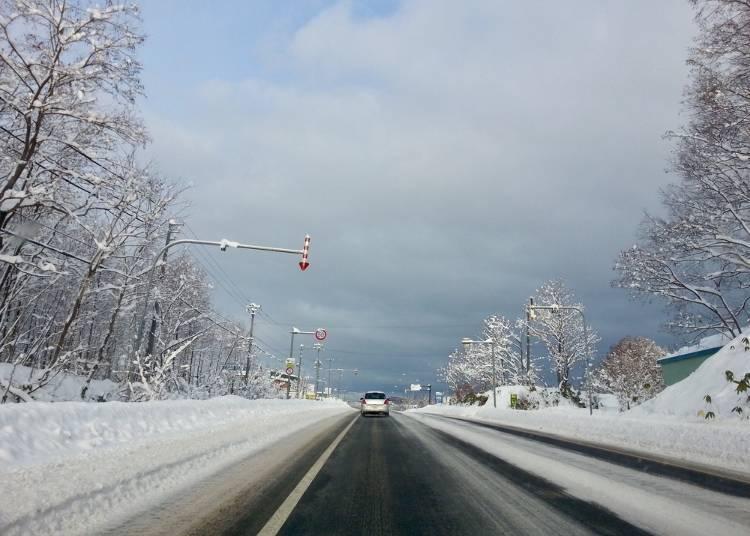 重点5 北海道的冬天开车很危险!