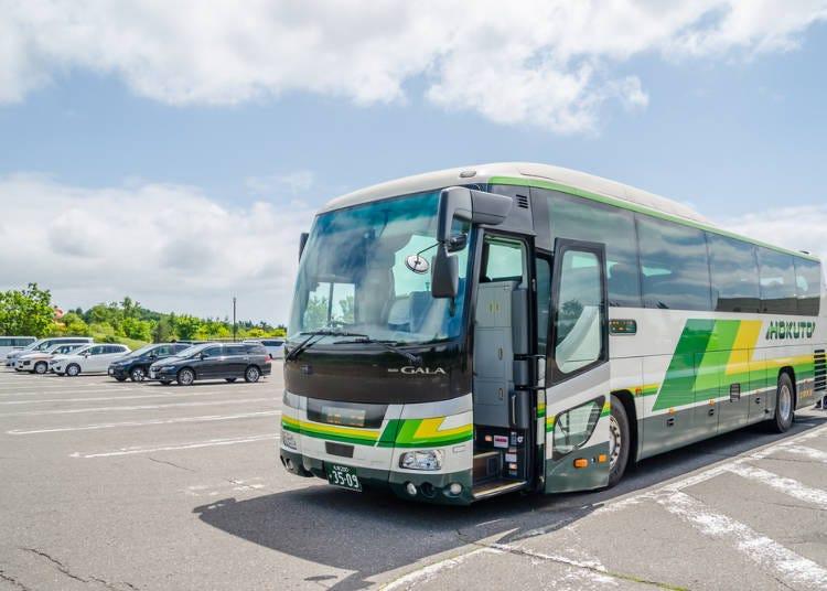 重点3) 网罗北海道内的主要观光地点,乘坐巴士在城市间舒适移动