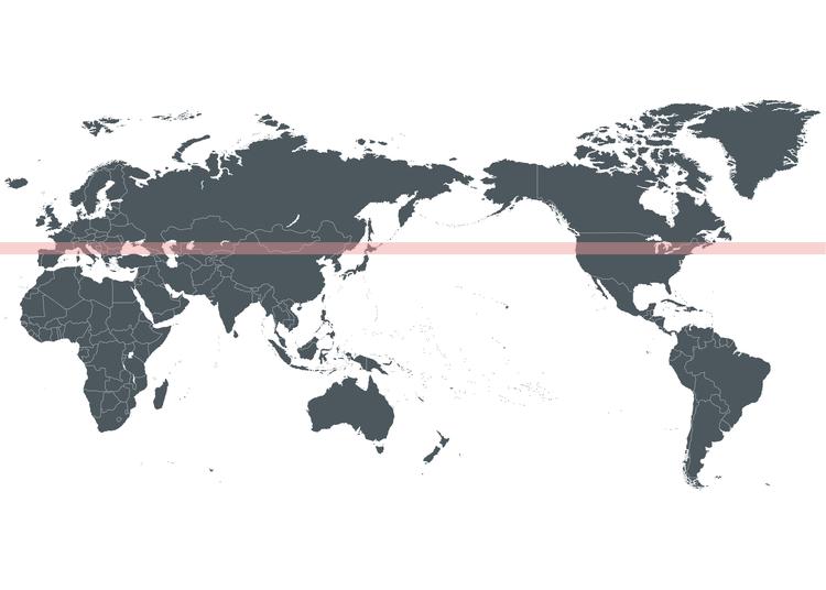 1. Hokkaido is located on the same latitude as Italy, New York