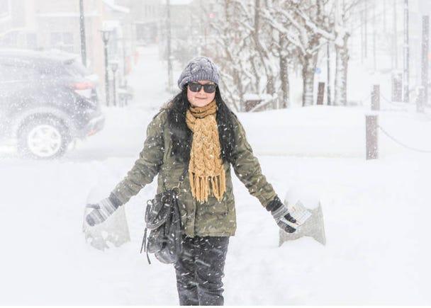 포인트 2 삿포로의 여름 평군 최고기온은26.4℃, 겨울은 -7.0℃!