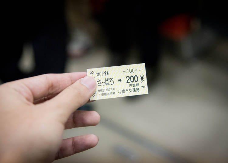 5. Special Sapporo Metro Subway Tickets