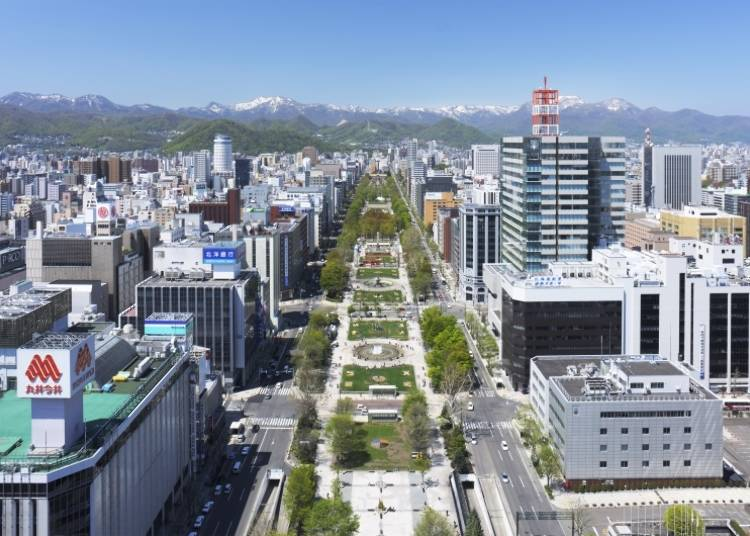 推薦景點3. 夏季、冬季的活動慶典必看!位於札幌市中心的「大通公園」