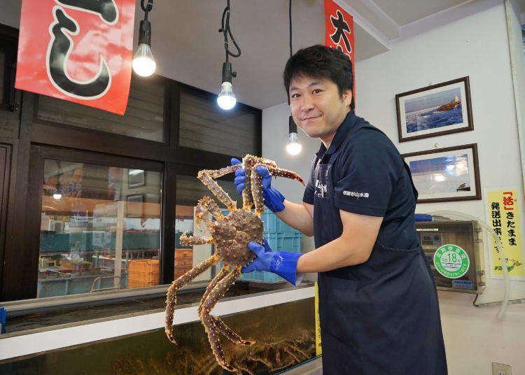 活跳跳北海道帝王蟹在這裡!札幌中央批發市場「場外市場」美食攻略!