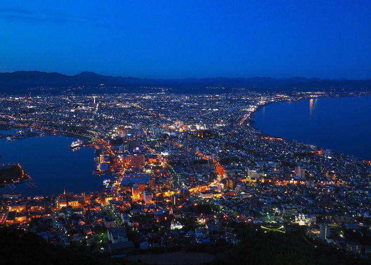 一说到函馆就让人想到夜景!搭乘空中缆车上函馆山去~