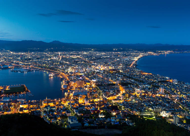 A romantic night view from the Hakodate Mountain Observation Deck