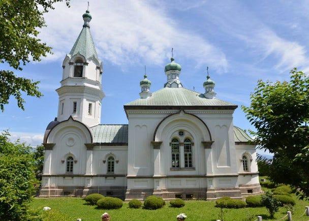 参观气氛庄严的「函馆哈利斯特斯东正教堂」