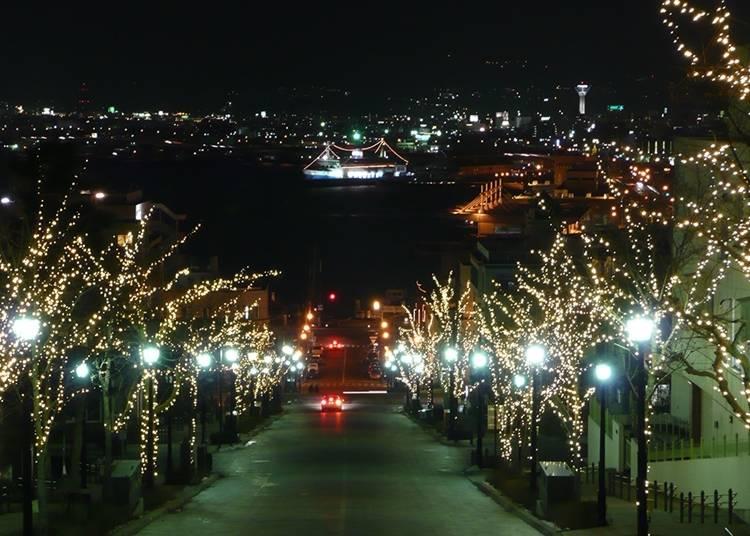 冬季浪漫景致~函馆霓虹彩灯