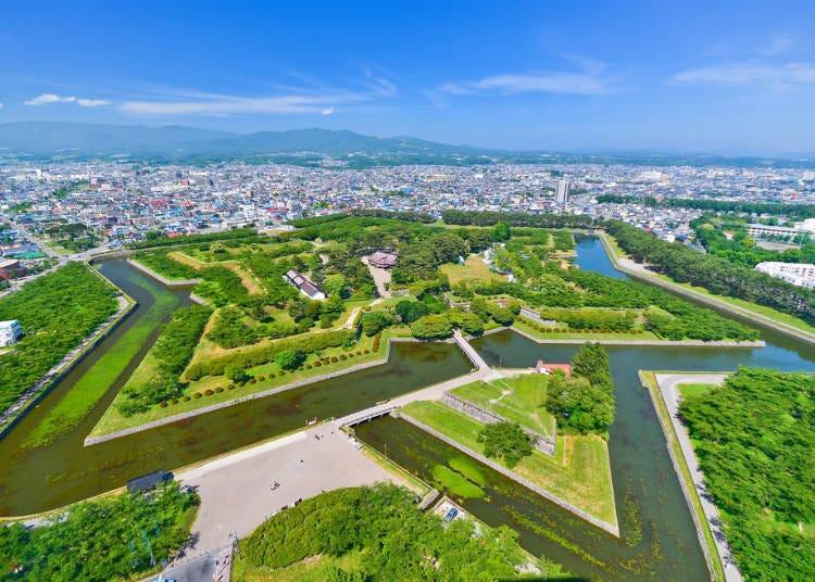 函館自由行行程之一,就來「五稜郭公園」看看吧!