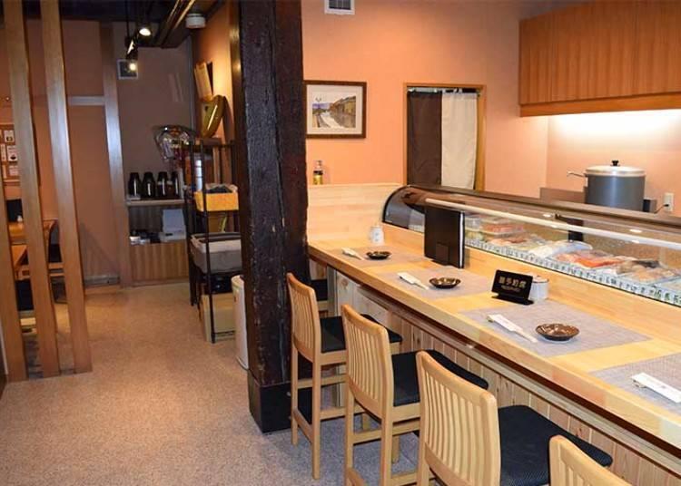 4. Otaru Sushi Ko: Enjoy sushi in a relaxed atmosphere