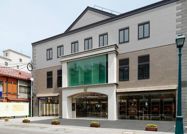 小樽代表性的人氣甜點店之最大規模店舖的「LeTAO PATHOS」