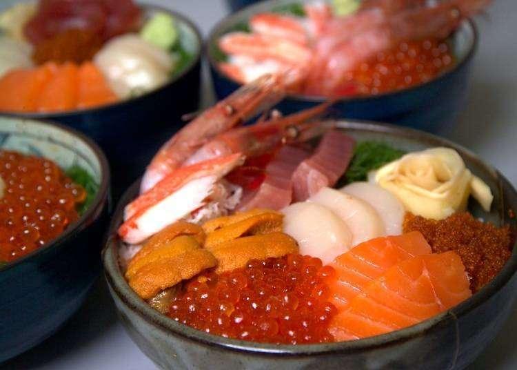 邻近小樽观光景点的必吃海鲜料理店