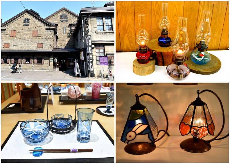 6)說到小樽的玻璃工藝品就會想到「北一硝子三號館」