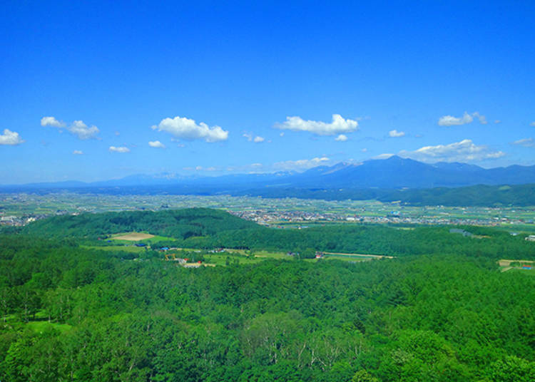 1. The Tokachi-dake side in summer; the Kita no Mine side in winter! Breathtaking panoramic vistas from the guest rooms