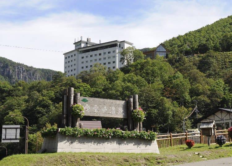 소운쿄 온천에서 가장 높은 언덕에 있는 [호텔 오오유키]