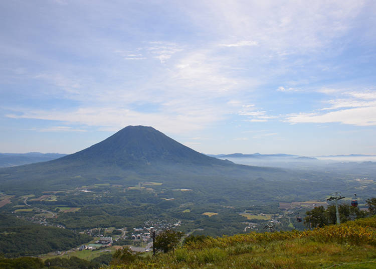 Mt. Yotei scenic views #4: Ride the gondola and see Mt. Yotei and Niseko from the top of the mountain