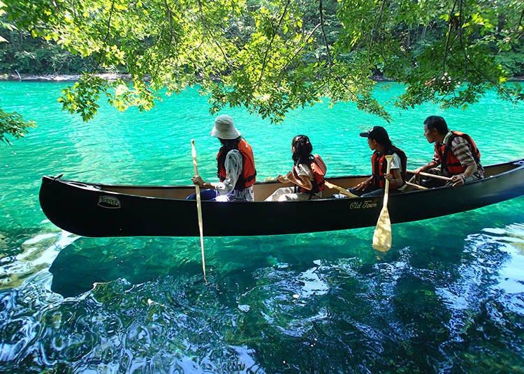 到神秘之湖「支笏湖」体验独木舟吧