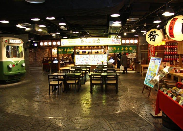 國內線3樓「美食世界」内「市電通食堂街」沈浸在復古氛圍裡品嚐美食