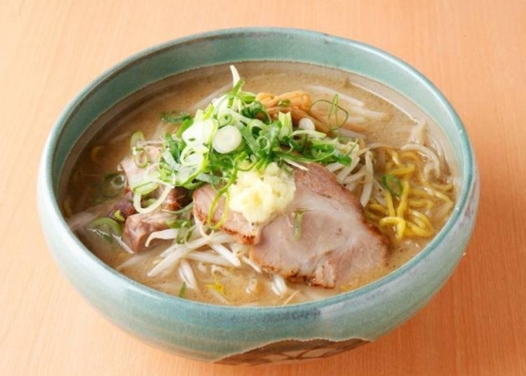 北海道特色拉麵①札幌拉麵:以味噌口味為主,還有醬油和鹽味等各種口味