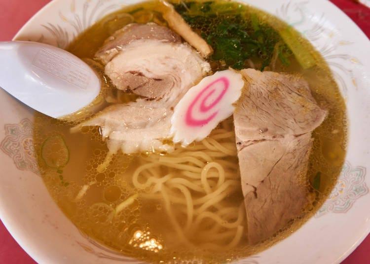 北海道特色拉麵③函館拉麵:清淡的鹽味口味就是函館的標準味道