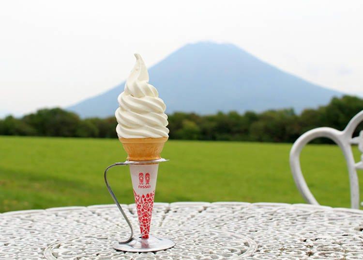 [니세코] 요테이산이 보이는 목가적인 풍경 속에서 즐기는 최고의 디저트! '니세코 다카하시 목장 밀크 공방'