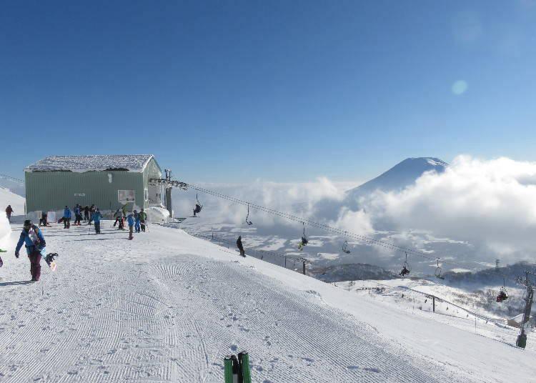 4) '니세코 안누프리 국제 스키장'은 오지를 경험하는데 최적!