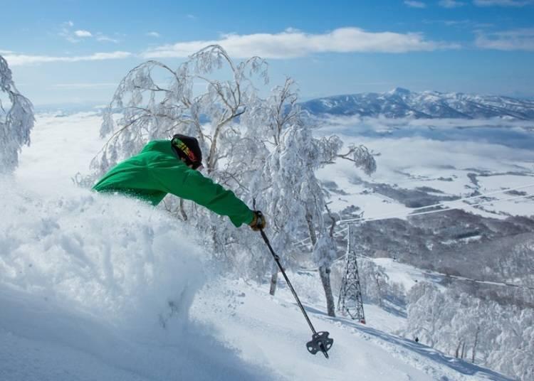 享受片片白雪的滑雪乐园