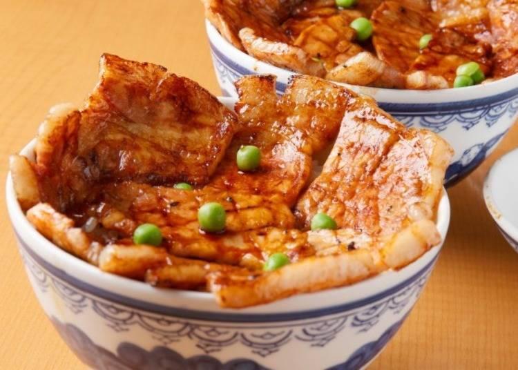 帶廣當地美食1. 豬肉蓋飯