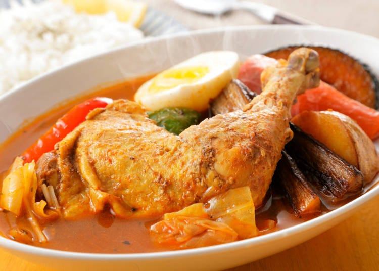 北海道美食②享用加入許多蔬菜的「湯咖哩」吧!