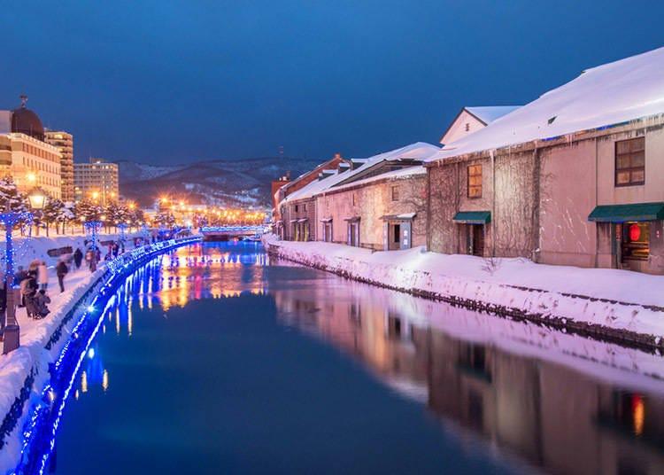 【北海道的冬季(12月、1月、2月)】 漫長的北海道寒冬,每個月的平均溫度都在零度下! 札幌11月就開始下雪,1月下~2月上積雪量增加!
