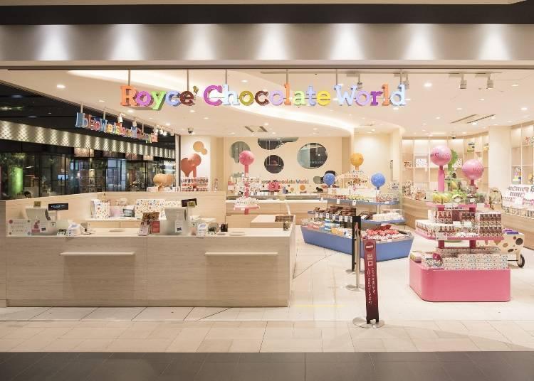 連絡設施3樓「微笑之路」/「Royce Chocolate World」可以參觀工廠製作過程
