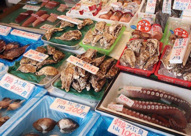 4. 貝類海鮮也很豐富的「池田商店」