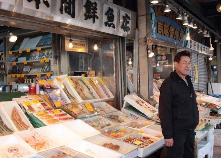 5. 招牌螃蟹「本間鮮魚店」