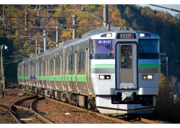 1)從北海道「新千歲機場」到札幌的交通