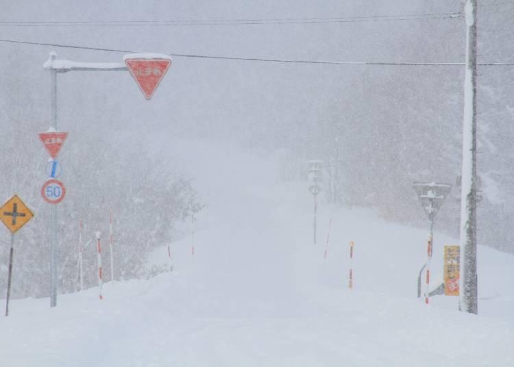 冬天在北海道移動時,需特別小心注意安全!