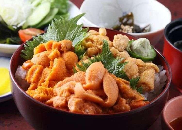 홋카이도 맛집 - 리시리에서 2종류의 성게맛보기. 말똥성게와 보라 성게를 회와 파스타로 즐겨보자!