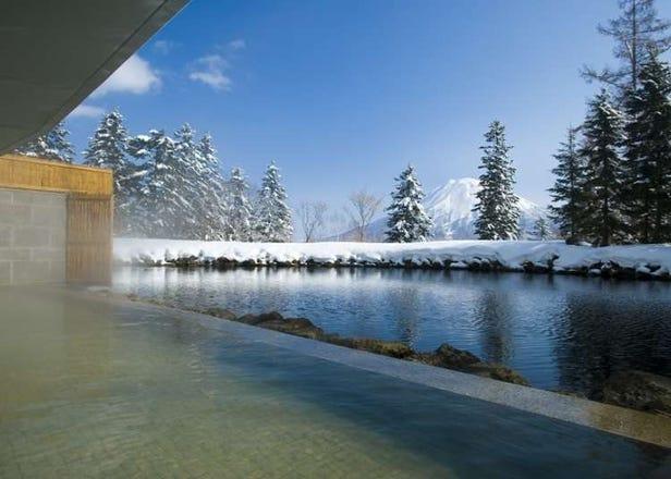 精湛的滑雪炫技后,就泡进暖融融的温泉里!精选6家新雪谷的一日温泉
