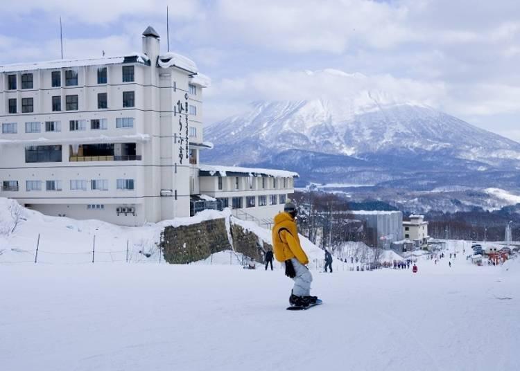 ■ 니세코 안누 프리와 요테이 산을 바라 볼 수 있는 「유모토 니세코 프린스 호텔 히라후테이」