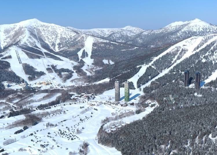 홋카이도 최대 규모의 산악 스키장! 초보자도 상급자도 만족할 만한 코스와 스키 레슨도 실시!