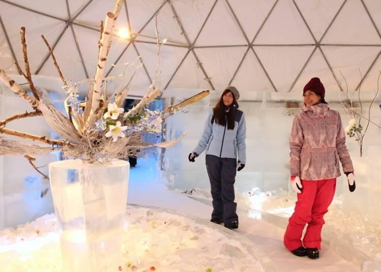 ■華やかな世界が広がる「氷のShop」