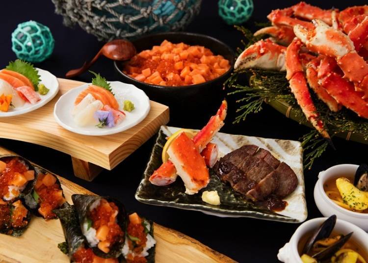 1. Buffet Dining Hal: Enjoy delicious Hokkaido delicacies to your heart's content!