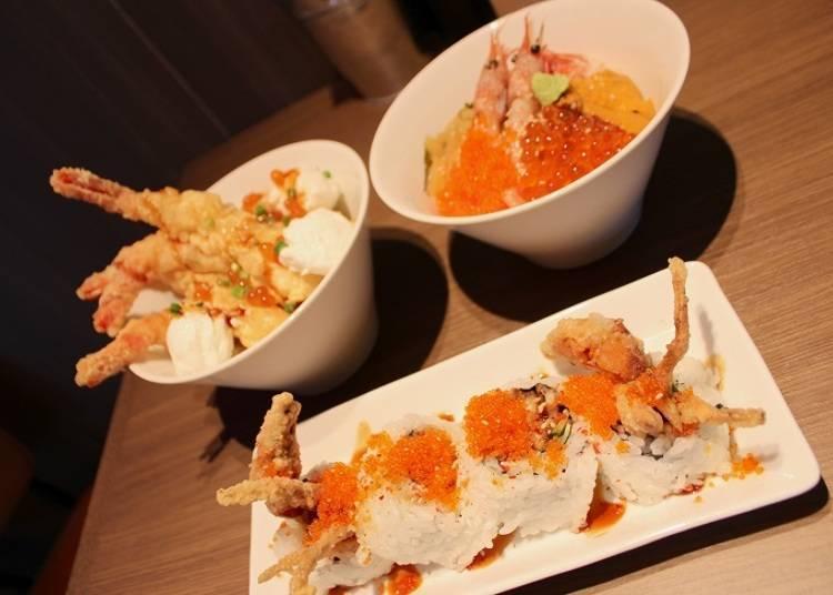■「ボウル&ロールハウス Eni(Bowl&Roll House Eni)」有提供各种以鲜虾和螃蟹为主的海鲜美食,让大家尽情享用