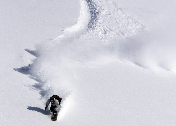 ■ Extreme powder snow that can be enjoyed on a grand scale
