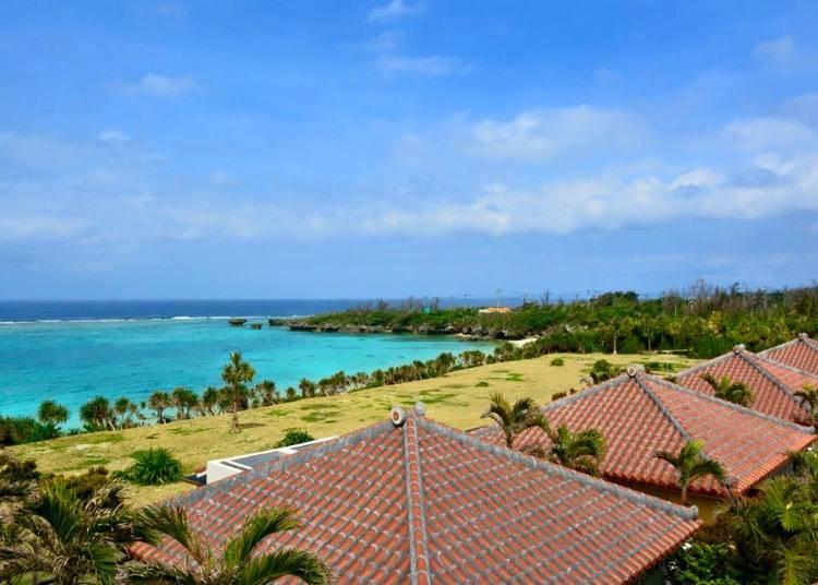 沖縄ではサンゴ礁のビーチが待っている