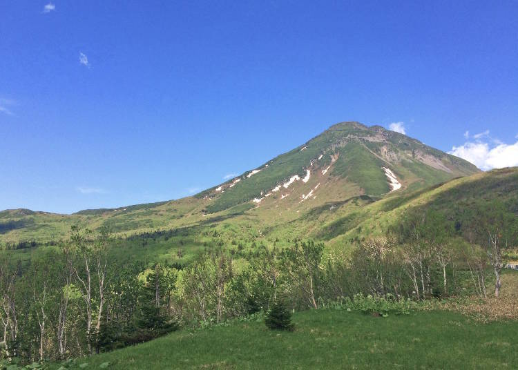 Mt. Rausudake,World Natural Heritage site and main peak of Shiretoko