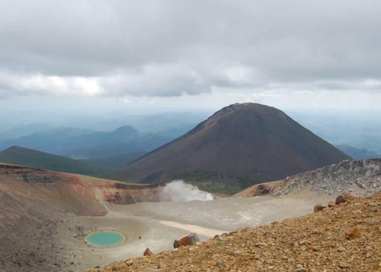 神秘の湖からのアクセス「阿寒富士」