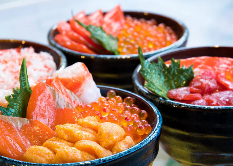 Other than crab, what other seafood is Hokkaido famous for?